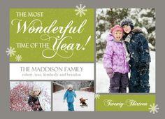 Wonderful holiday card by PurpleTrail.com. #holidaycards #christmascards #holidayphotocards #christmasphotocards