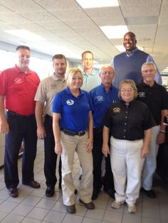 The sales team was excited to have Shaq and Peyton on staff.