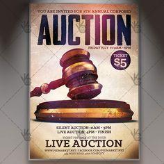 Live Auction - Premium Flyer PSD Template.  #allpay #annual #antiques #art #auction #auctioneer #auctions #banquet #Benefit #bid #bidder #buffet #buyout #charity #collectible #fundraiser #online #pamphlet #silent  DOWNLOAD PSD TEMPLATE HERE: https://www.psdmarket.net/shop/live-auction-premium-flyer-psd-template/  MORE FREE AND PREMIUM PSD TEMPLATES: https://www.psdmarket.net/shop/