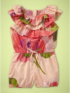 Floral ruffle romper - I just bought this for Savannah, it's so cute!