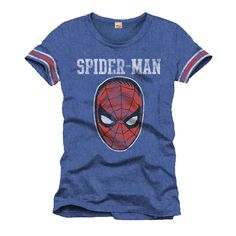 Tee-Shirt Bleu Masque Spiderman