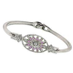 1928 Boutique Art Deco Light Amethyst Floral Crystal Bracelet Silver Tone - 1928, Amethyst, BOUTIQUE, bracelet, Crystal, Deco, Floral, Light, silver, tone http://designerjewelrygalleria.com/1928-jewelry/1928-bracelets/1928-boutique-art-deco-light-amethyst-floral-crystal-bracelet-silver-tone/