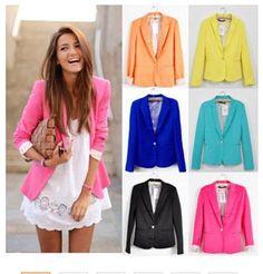 2016 Women Suit Blazer Foldable Brand Jacket Made Of Cotton & Spandex.   wonderfestgifts.com