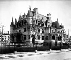 The Charles M Schwab Mansion. The great depression hit hard and wiped out all Schwab's money.  Schwab had to move into a small apartment on Park Ave where he died penniless in 1939.  The land was bought by a developer and after a sale of the interior fittings the home was knocked down.