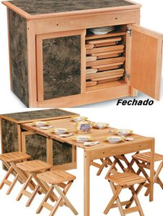 Favorite - completely expandable and collapsible table and bar design. So neat!