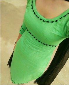 Best 12 Neck designs – Page 856669160346094912 Chudithar Neck Designs, Chudidhar Designs, Neck Designs For Suits, Blouse Neck Designs, Dress Designs, Salwar Neck Patterns, Salwar Suit Neck Designs, Kurta Neck Design, Kurta Designs Women