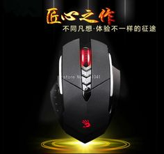 A4TECH Bloody R7 3200DPI Gaming wireless Mouse 8 Keysters LOLFps Emperorship LOL CF Dota Mouse with lithium rechargeable #Affiliate