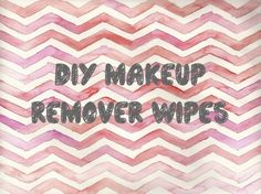 DIY Waterproof Eye Makeup Remover Pads. Only a couple ingredients- GREAT for sensitive skin like mine!!