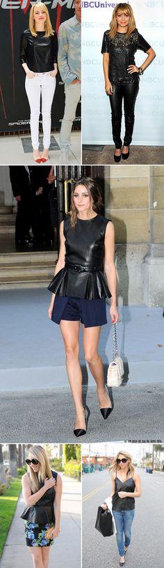 Leather Top, Fall 2012 Fashion