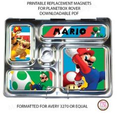 #PlanetBox Rover Magnets - Super Mario Bros. custom design replacement magnets