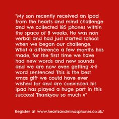 Lovely testimonial about the value of iPads for kids with Heart And Mind, Ipads, Autism, First Time, Challenges, Mindfulness, Consciousness