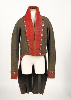 war of 1812 militia coatee