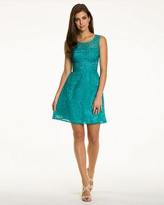 Lace Fit and Flare Dress I Feel Pretty, Summer Dresses, Formal Dresses, Flare Dress, Fit And Flare, Turquoise, Weddings, Lace, Fitness