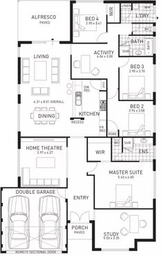 Quantum, Single Storey Home Floor Plan, WA 206k