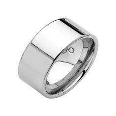 10mm Flat Tungsten Wedding Band Ring for Men GoldenMine. $30.00