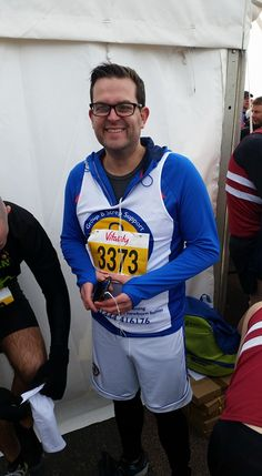 """Mike Rankine took part in the Brighton Half Marathon and raised a fantastic £875  Mike says """"Thanks for the encouragement it was much needed yesterday. The run went well and I came in around 17 minutes under my target time and finished in 2.03.58. I got to mile 11 and was in trouble, but I pushed through it with the crowd's encouragement and remembering just how unwell my son was with his infection and how lucky we were to have a midwife who knew what was happening."""""""