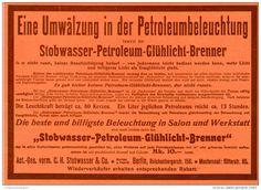 Original-Werbung/Inserat/ Anzeige 1902 : STOBWASSER-PETROLEUM-GLÜHLICHT-BRENNER ca. 190 x 130 mm