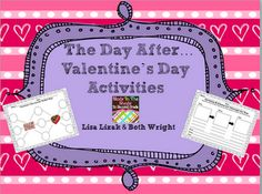 The Day After...Valentine's Day Activities :) holiday, classroom idea, romant valentin, valentine day, activ romant, aftervalentin, classroom freebi, teach idea
