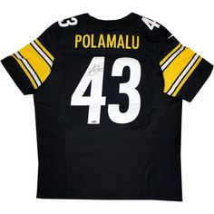 Troy Polamalu Signed Pittsburgh Steelers Nike Authentic Black jersey - Steelers Great Troy Polamalu has personally hand-signed this Nike Authentic Black jersey. Troy Polamalu was a standout player at the University of Southern California and earned All-American honors and then went to be drafted in the first round by the Pittsburgh Steelers in 2003. Polamalu is a two time Super Bowl Champion an eight time Pro Bowler and a 2010 Defensive Player of the year. He is considered to be one of the…