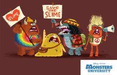 Monsters University Art by Chris Sasaki Pixar Concept Art, Game Concept Art, Character Concept, Character Art, Character Reference, Walt Disney, Disney Art, Monster University, Monsters University Personajes