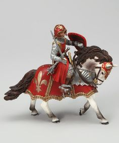 Red Toy Figurine 39754 NEW Papo Horse of Crossbowman