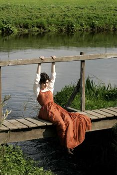 Awesome photo and I ove everything about this dress. It makes me think of Jane Austin
