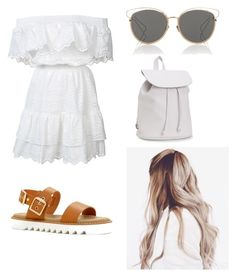 """""""Untitled #34"""" by claradimitra ❤ liked on Polyvore featuring LoveShackFancy, ALDO, Aéropostale and Christian Dior"""