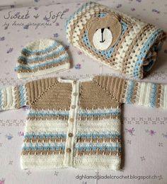 La Magia del Crochet: COMPLETO PARA RECIÉN NACIDO