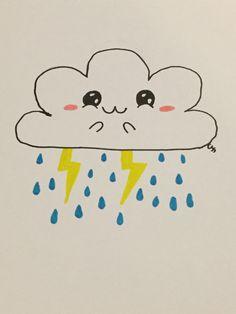 Kawaii rain cloud