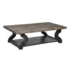Satur Distressed Wood Coffee Table