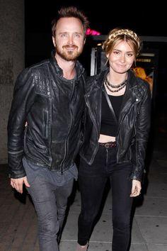 Aaron Paul and Lauren Parsekian. See 17 more celebrity couples who dress alike.