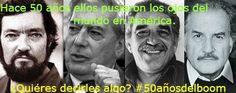 #50AñosdelBoom Gente, en Spacio Libre Cultural estamos preparando un INFORME ESPECIAL sobre El 'Boom Latinoamericano'. ¿Vargas Llosa, García Márquez, te suenan? Ayúdanos a enriquecer el informe. Si tienes algo que decir sobre el tema coméntanos.