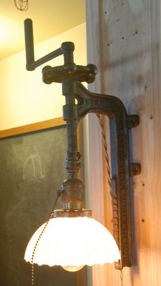 Vintage Industrial Drill Press Sconce by Californiarediscover, $245.00