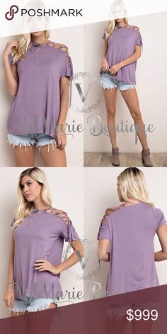 "FINALLY HERE!!! LACE UP COLD SHOULDER SLEEVE TOP LIMITED QUANTITY!!! Only 2 in each size. Looks amazing on and looks exactly like stock photo. Made of 95% rayon, 5% spandex. COMES TRUE TO SIZE WOMENS - S(2-4) M(6-8) L(10-12) - Apprx 27.5"" - Price ABSOLUTELY FIRM unless bundled. Also have in Aqua or black ValMarie Boutique Tops"