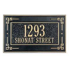 Key Corner Address Plaque - 2 Line - DARK BLUE/GOLD - Improvements by Improvements. $94.99