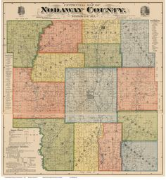 Nodaway County Missouri 1900 - Wall Map with Landowner & Homeowner Names - Reprint. This Missouri county wall map shows all the old roads, landowner and place names. Some homeowner names are indicated by a black square next to the name. Great for genealogists and history lovers. The reprint is made from the original on file at the Library of Congress. We have edited the original image to improve the appearance. Great for genealogists and history lovers! We offer this map reprint in…