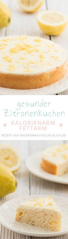 Tolles Rezept für einen gesunden Zitronenkuchen. Fluffig, erfrischend, angenehm süß und leicht säuerlich: Dieser zuckerfreie Zitronenkuchen mit extrem wenig Fett ist ein wunderbarerer kalorienarmer Sommerkuchen!