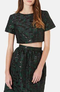 Topshop Crop Top & Skirt