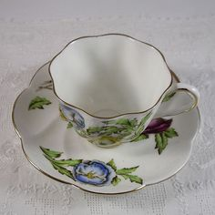 Royal York Fine Bone China Tea Cup and Saucer.