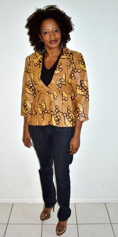 Ankara African Wax Print Jacket Handmade Jacket by ZabbaDesigns