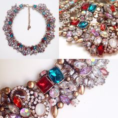 You can deck the halls this holiday season, but don't forget about yourself! Drape yourself in #Passiana #crystals for an elegantly #sparkly look ✨ #glam #sparkle #colorful #glitter #fashion #jewelry #statementnecklace #beautiful