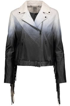 Shop on-sale Haute Hippie Fringed degradé leather biker jacket. Browse other discount designer Jackets & more on The Most Fashionable Fashion Outlet, THE OUTNET.COM