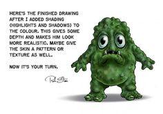 Рисуем монстров, рисование для