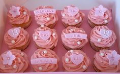 Personalised cupcakes for a birthday sleepover