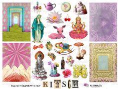 KitScH - Religoius - Joyful - Digital Collage Sheet (no 277). $4.50, via Etsy.