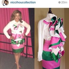 SCRD Soror Chelle M. Wilson rocking the outfit #AKA#. Yes! Absolutely fabulous and AKA Diva Style!!!