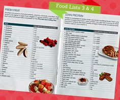 Food Lists 3 & 4 #PiYo #workout #nutrition #ChaleneJohnson #diet #food