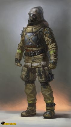 ArtStation - my concept art for survarium (tramps community, abnormal fighter), Denis Didenko