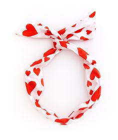 do the twist | ban.do twist scarf in extreme supercute hearts