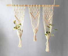 Tripple Boho Plant Hanger Macrame Home Decor Indoor Hanging